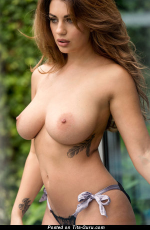 Sexy naked amazing lady with big natural breast photo