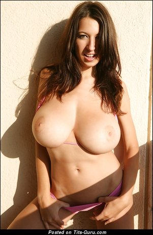 Image. Jana Defi - naked brunette with huge natural boobies picture
