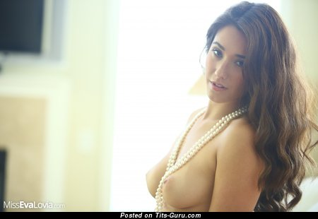 Image. Eva Lovia - wonderful girl with medium natural boobs picture
