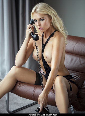 Denise Cotte - Fine German Blonde with Fine Bare Natural Hooters in Stockings (Hd Sexual Image)