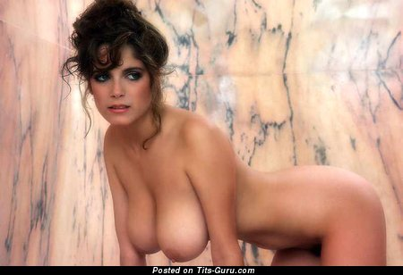Image. Charlotte Kemp - sexy nude brunette with medium natural boob vintage