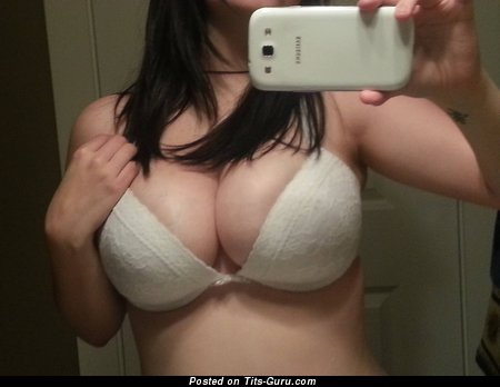 Image. Naked wonderful lady with big natural boobies selfie