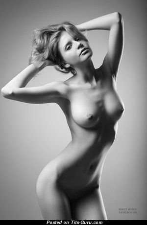 Image. Sexy topless nice girl with medium natural tittes picture