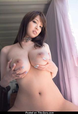 Shion Utsunomiya - Delightful Topless Japanese Brunette Pornstar with Beautiful Naked Real Big Sized Tit is Undressing (Hd Xxx Pix)