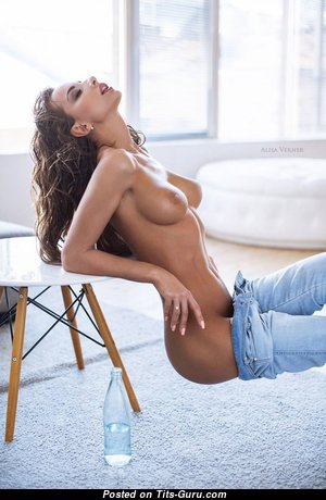 Katerina Rubinovich - Hot Brunette with Hot Bare Natural Hooters (Porn Foto)