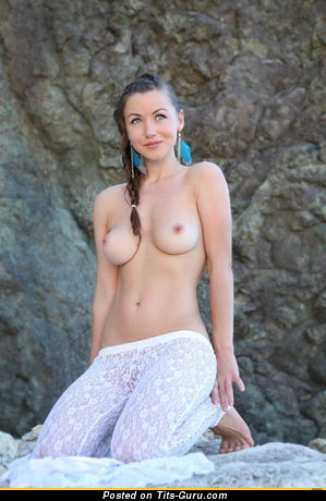Image. Nude amazing woman with medium natural boobies picture