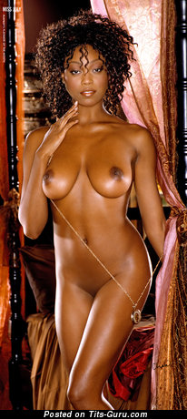 Image. Quiana Chase - nude ebony with medium natural boobies picture