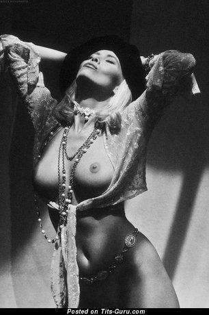 Image. Nude beautiful lady with medium natural tits photo