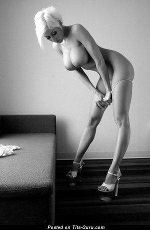 Image. Amazing female with big fake tittys vintage