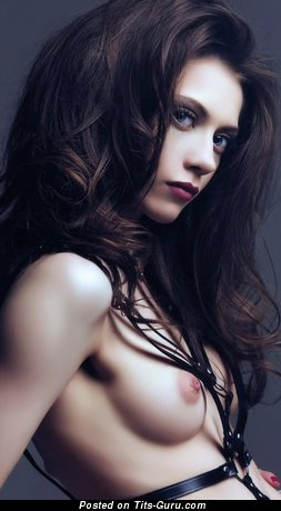 Image. Sexy naked brunette with small natural tittys image