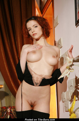 Ulya I - Perfect Ukrainian Red Hair Babe with Perfect Defenseless Natural Firm Chest is Undressing (Hd Sex Pix)