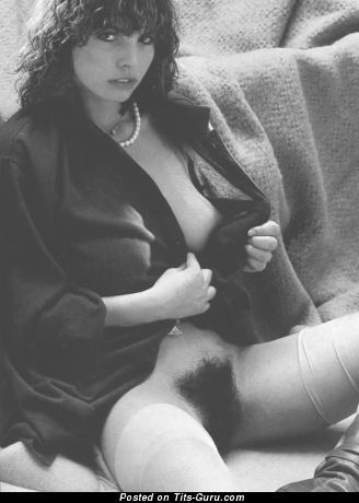 Naked brunette with natural tots vintage