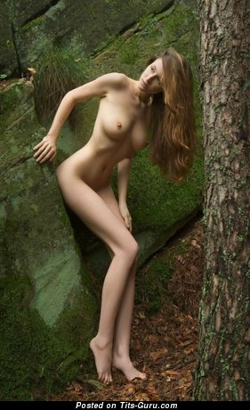 Image. Naked hot female with medium natural boobs pic