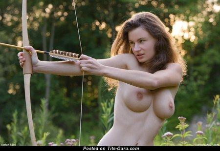Image. Naked amazing woman with medium natural tits image