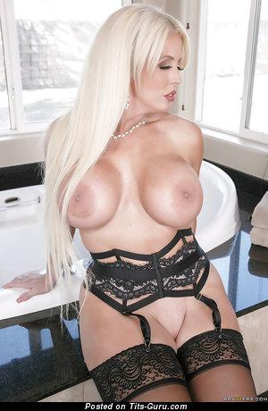 Alura Jenson - nude awesome woman with medium fake boobies photo