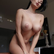 Lucy - brunette with big natural boob and big nipples image
