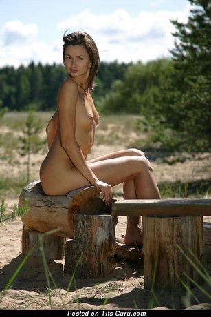 Grazhina - Splendid Gal with Splendid Nude Real Tiny Knockers (Hd Porn Image)