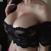 Awesome lady with huge fake tits photo