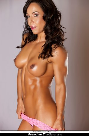 Image. Nude wonderful woman with medium fake boobs picture