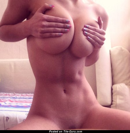 Image. Topless amateur beautiful female with big natural tits picture