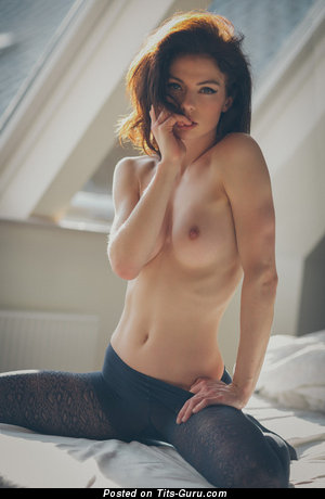 Image. Nude nice girl with medium natural breast image
