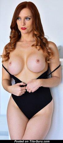 Dani Jensen - Sweet American Red Hair Pornstar with Sweet Bald Fake Balloons & Erect Nipples (Hd Porn Image)