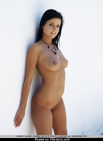Image. Naked nice girl with medium natural boobs image