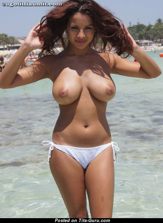Graceful Babe with Graceful Defenseless Natural D Size Knockers & Big Nipples (Porn Wallpaper)