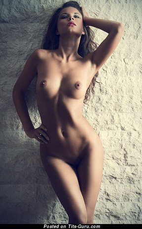 Image. Naked wonderful woman with natural boob image