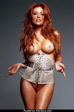 Angie Everhart - Amazing American Miss with Amazing Nude Medium Titties (Porn Wallpaper)