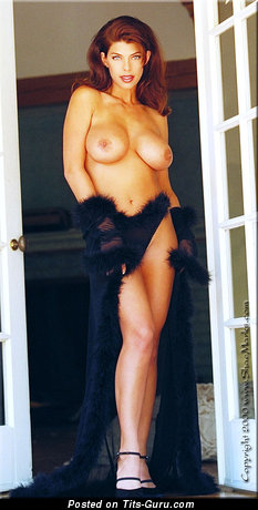 Image. Shae Marks - sexy topless brunette with medium tittes and big nipples vintage