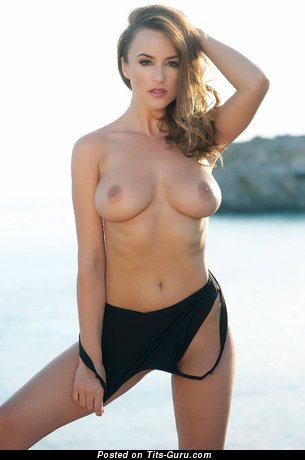 Image. Beautiful lady with natural breast picture