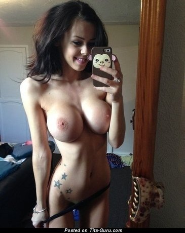 Image. Naked amazing woman with big fake breast picture