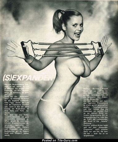 Image. Joanne Latham - topless hot lady with medium boobies vintage