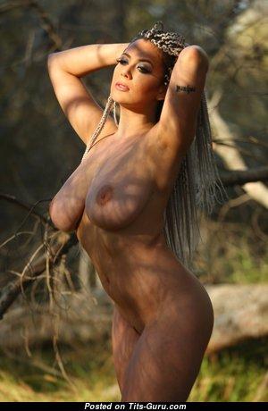 Красотка с сексуальной оголённой натуральной выдающийся грудью (hd ню изображение)