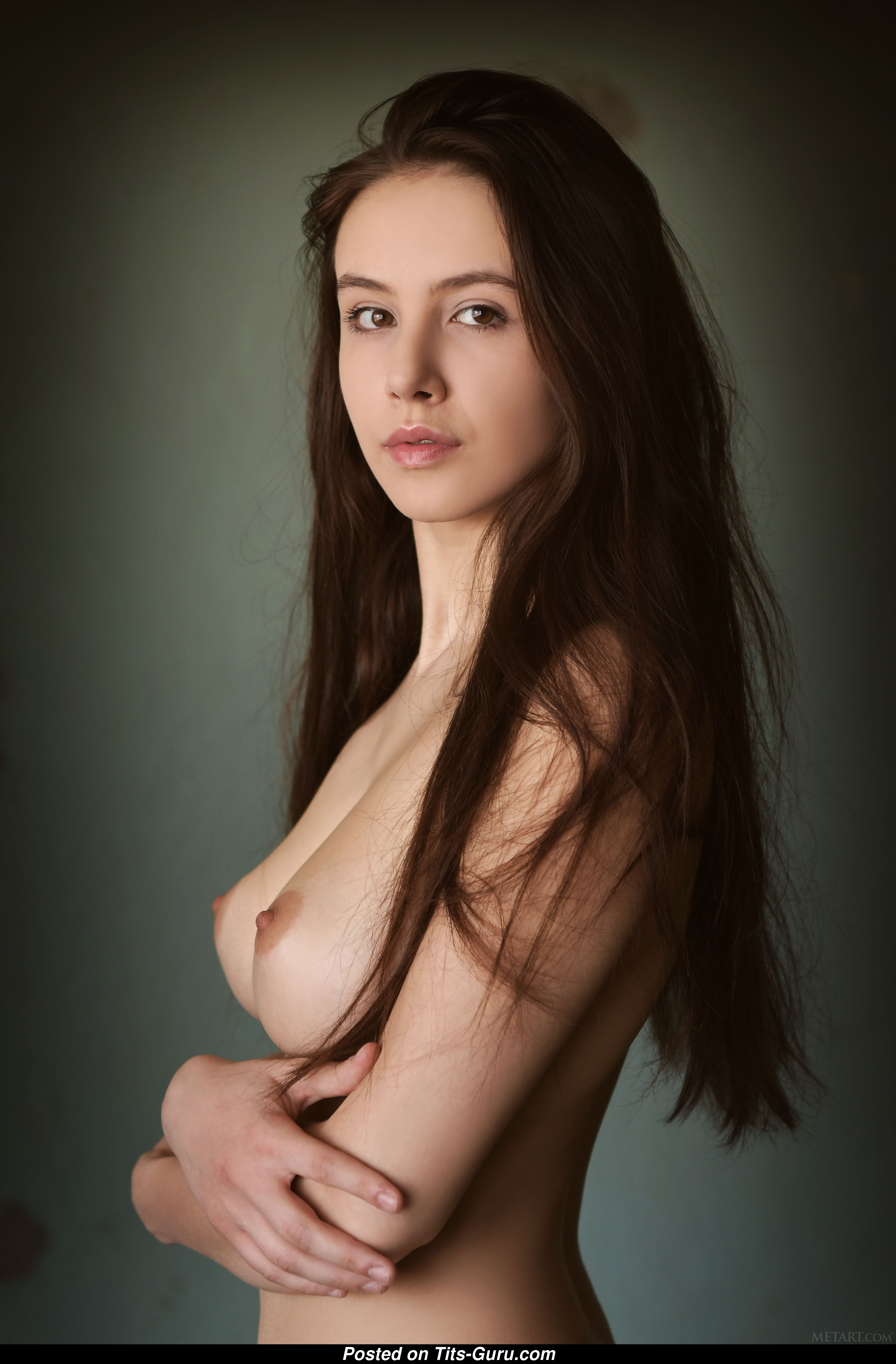 Alisa Amore - Topless Brunette With Bare Real Normal -8998