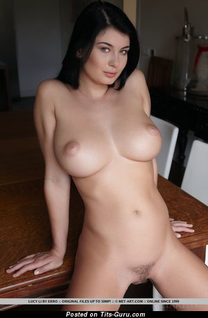 Image. Lucy Li - brunette with big boobies photo