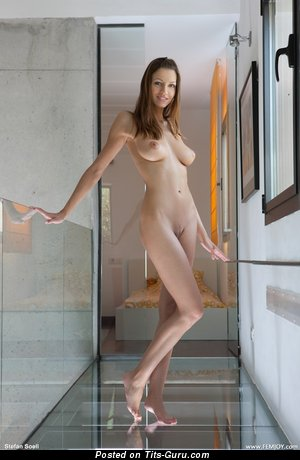 Image. Naked beautiful lady with medium natural tits pic