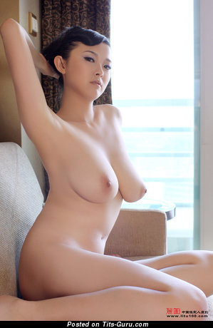 Bing Yi - Awesome Chinese Miss with Awesome Naked Natural Mid Size Boobies & Huge Nipples (Hd Porn Photoshoot)