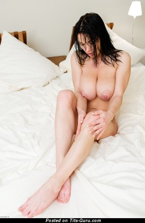 Aksana Shyker - naked brunette with big natural boobs and big nipples photo