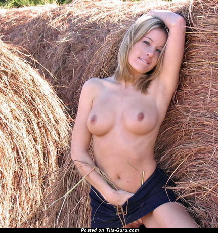 Naked hot girl with medium natural tits photo
