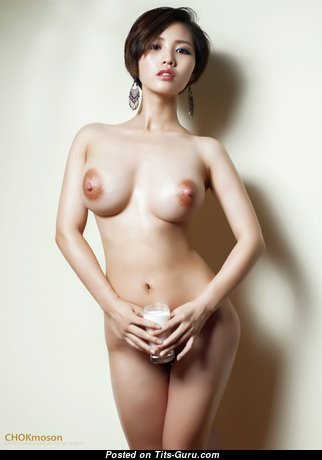 Marvelous Asian Babe with Marvelous Bare Medium Melons (Hd Sexual Photoshoot)