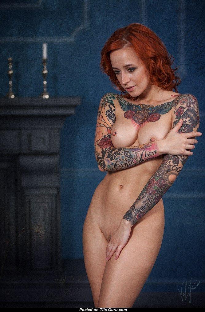Jane Sinner - Moll With Open Soft Jugs, Piercing  Tattoo -8309