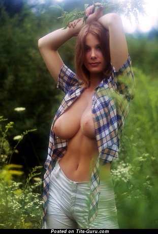 Image. Naked awesome lady with big natural boob picture