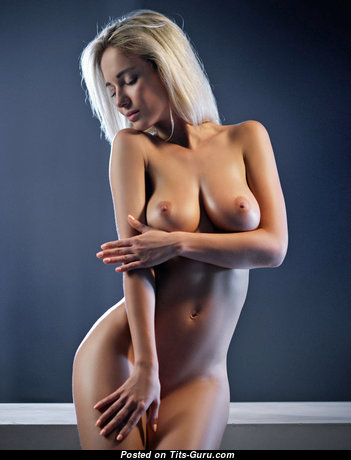 Natalia Andreeva - Perfect Blonde with Perfect Exposed Natural Soft Titties (Hd Porn Photo)