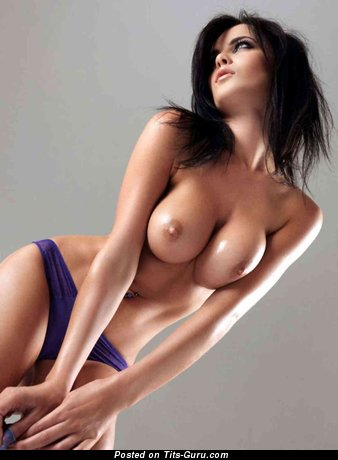 Stunning Topless Brunette Babe with Long Nipples (Hd Sexual Photo)