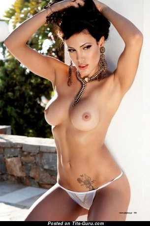 Efi Kiriakou - The Best Greek Playboy Babe with The Best Exposed Firm Boobys & Tattoo (Porn Image)