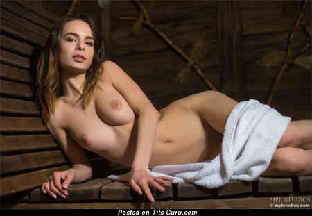 Alluring Naked Brunette (Hd Xxx Wallpaper)