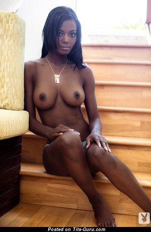 Image. Danielle Nicole - ebony brunette with medium natural tits image
