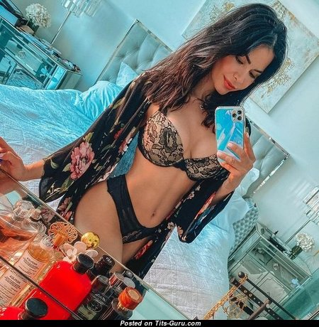 Kathy Picos - The Nicest Non-Nude Latina Brunette Babe in Panties & Lingerie is Doing Fitness (Selfie Sex Wallpaper)